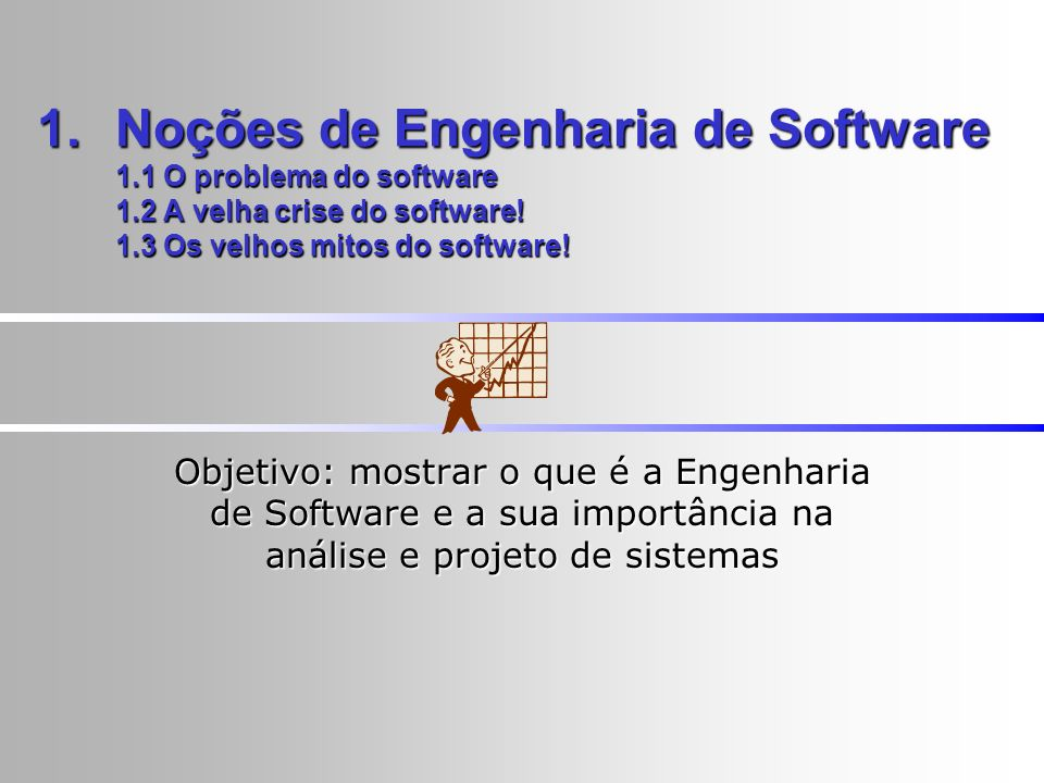 Noções de Engenharia de Software 1. 1 O problema do software 1
