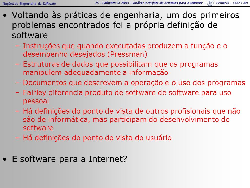 E software para a Internet
