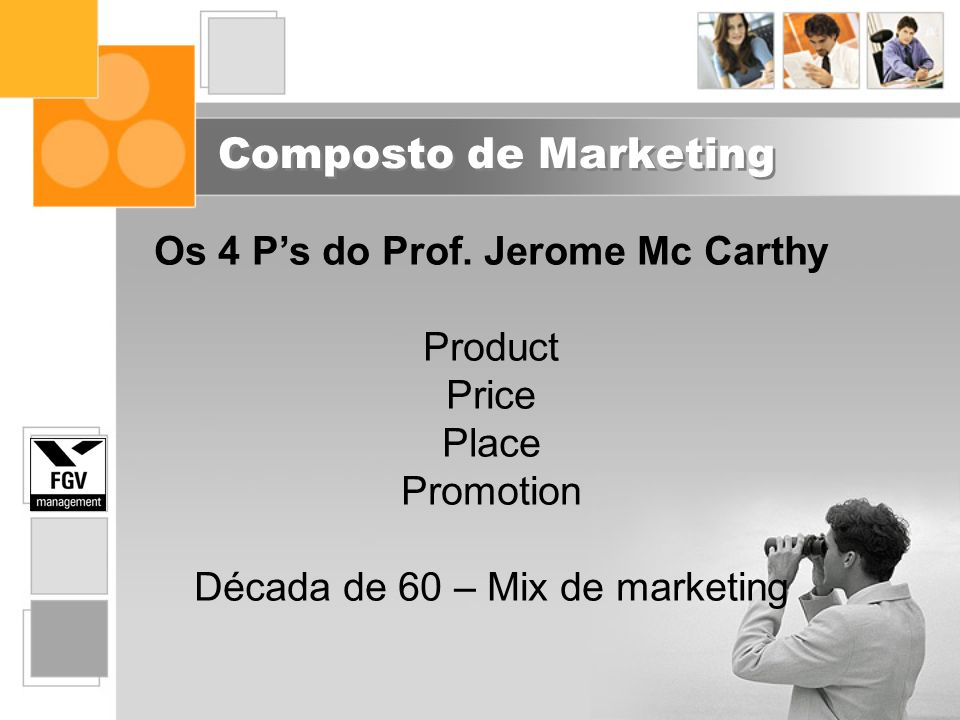 Os 4 P's do Prof. Jerome Mc Carthy