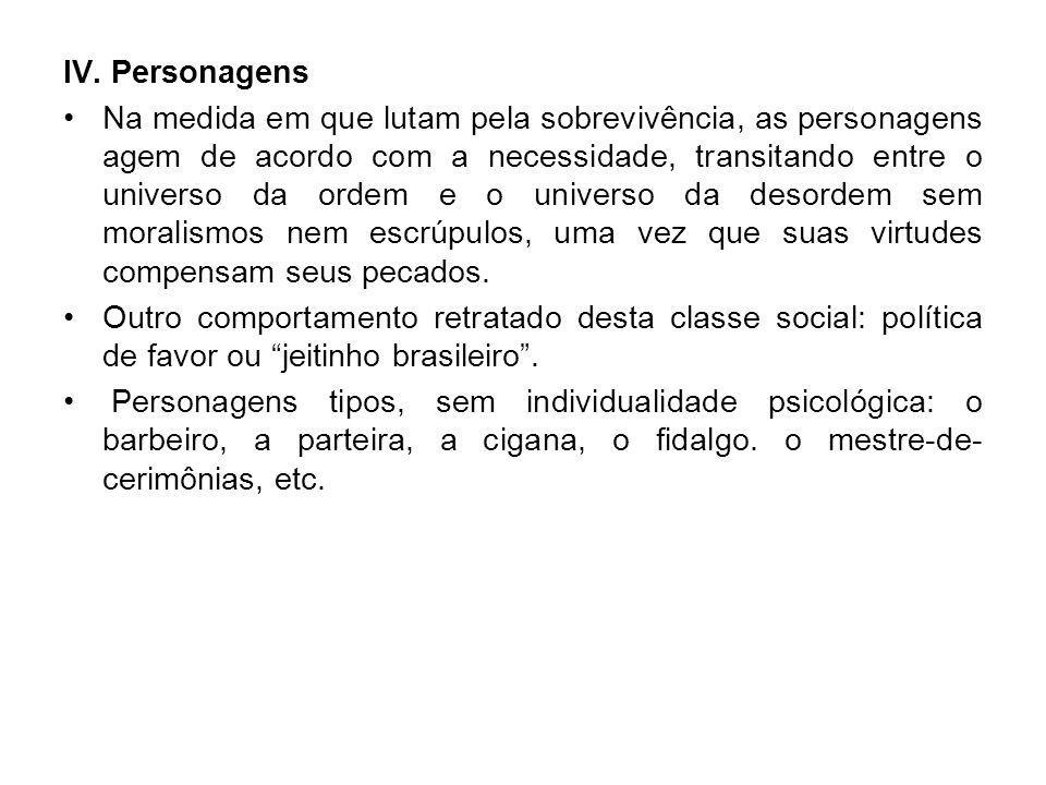 IV. Personagens