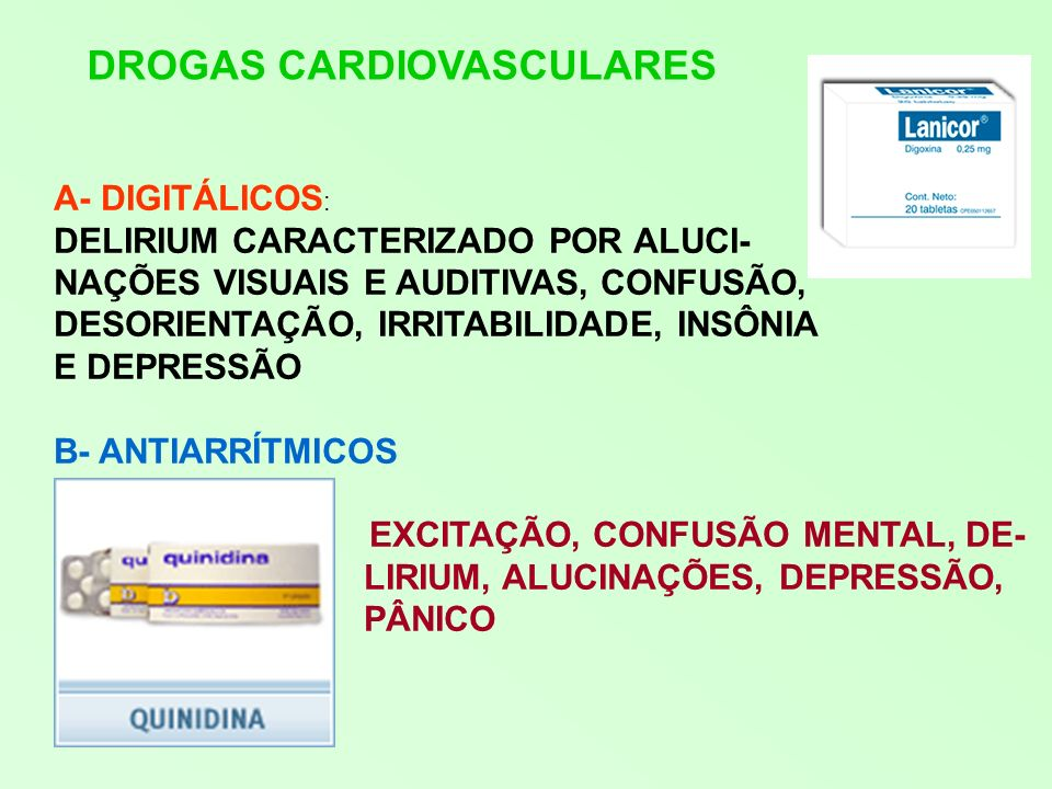 DROGAS CARDIOVASCULARES