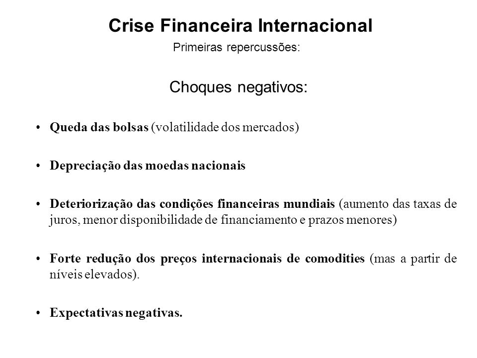 Crise Financeira Internacional
