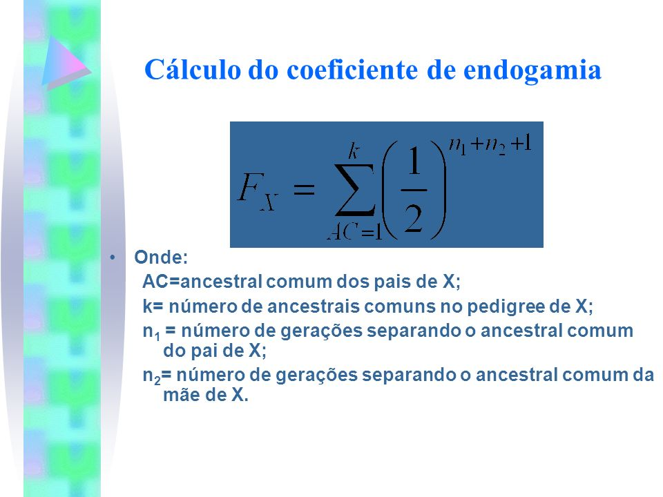 Cálculo do coeficiente de endogamia