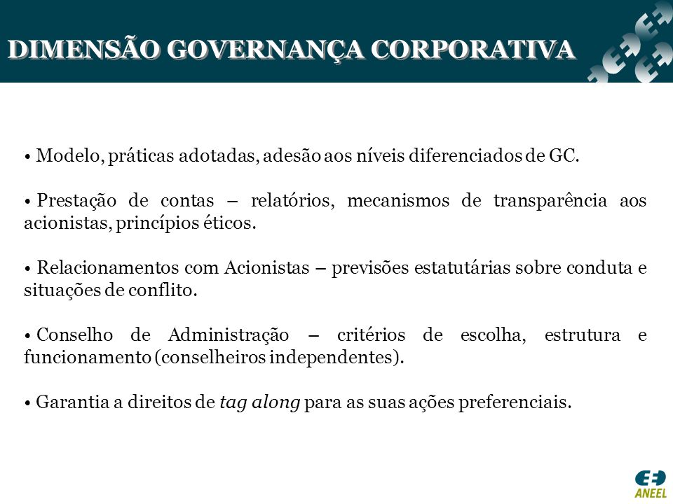 DIMENSÃO GOVERNANÇA CORPORATIVA