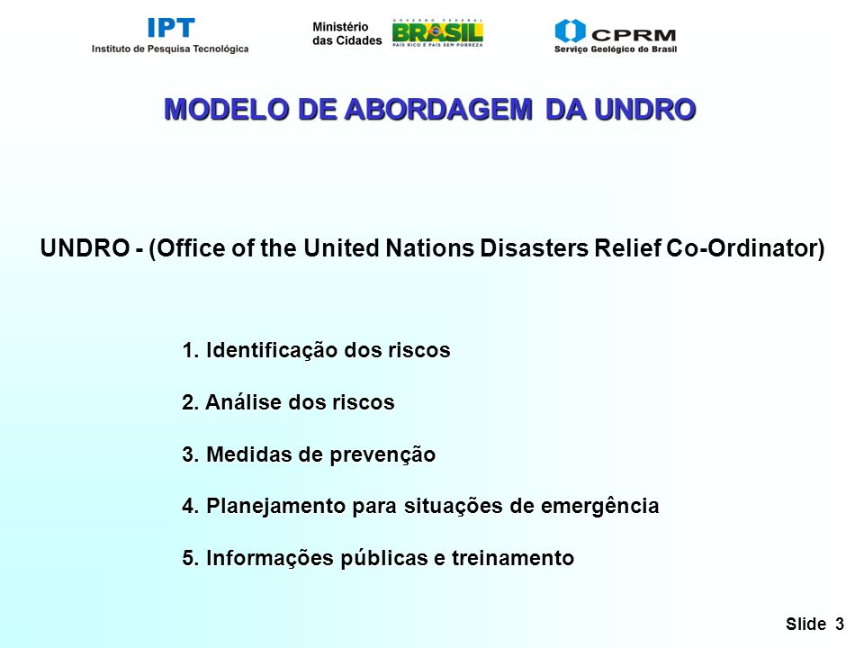 UNDRO - (Office of the United Nations Disasters Relief Co-Ordinator)