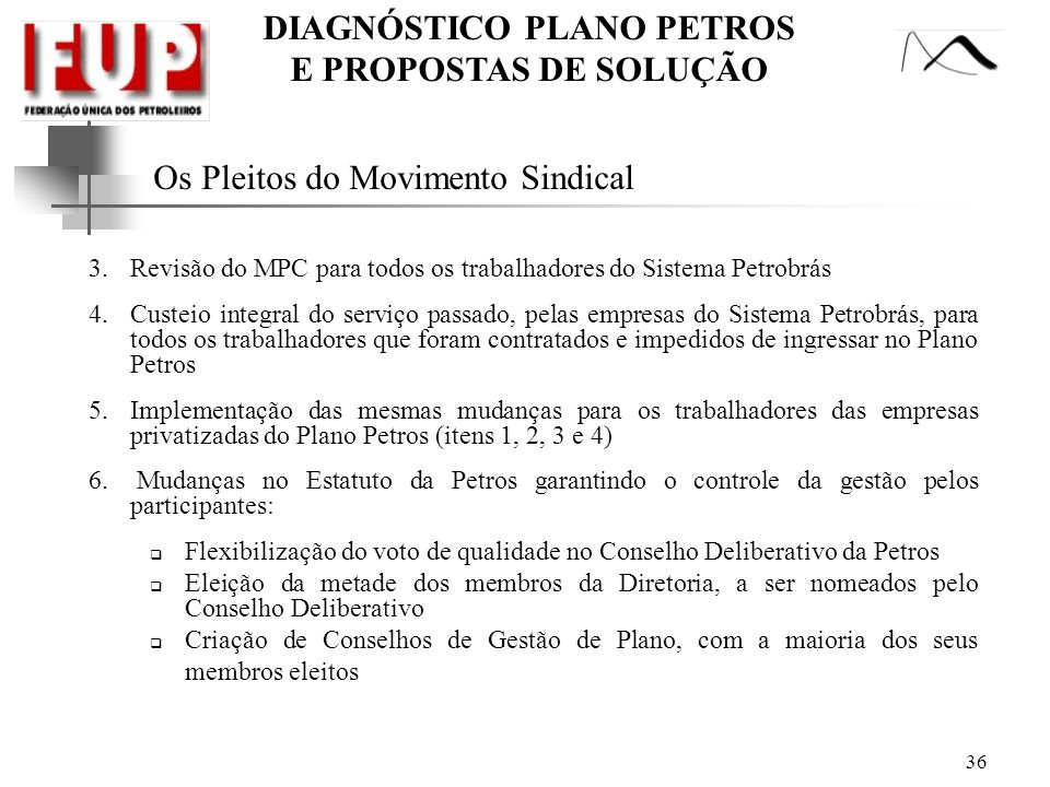Os Pleitos do Movimento Sindical