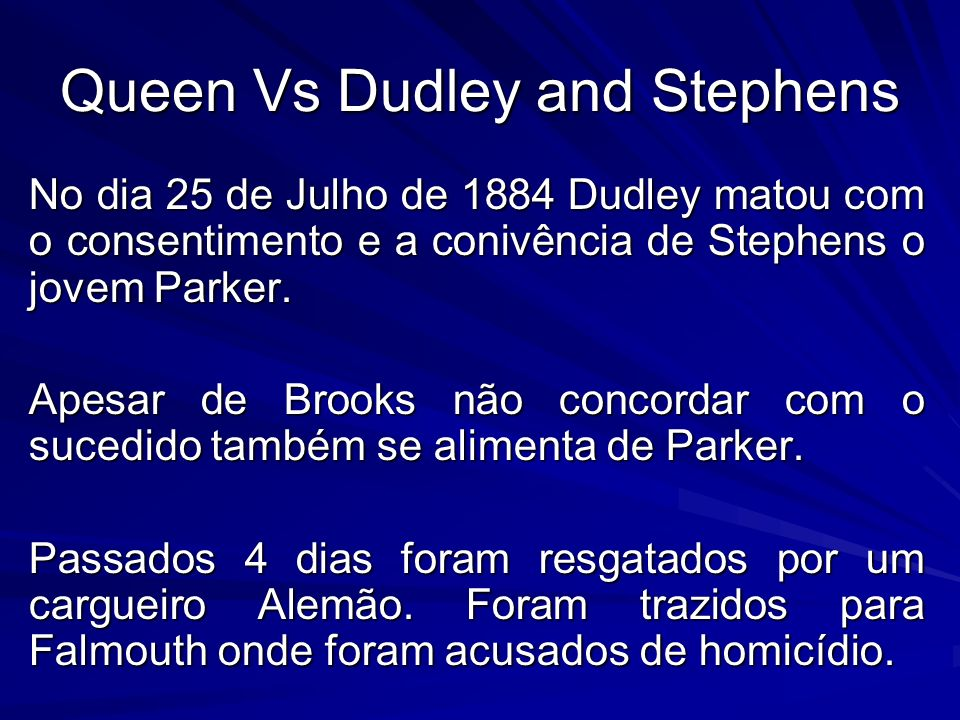 Queen Vs Dudley and Stephens