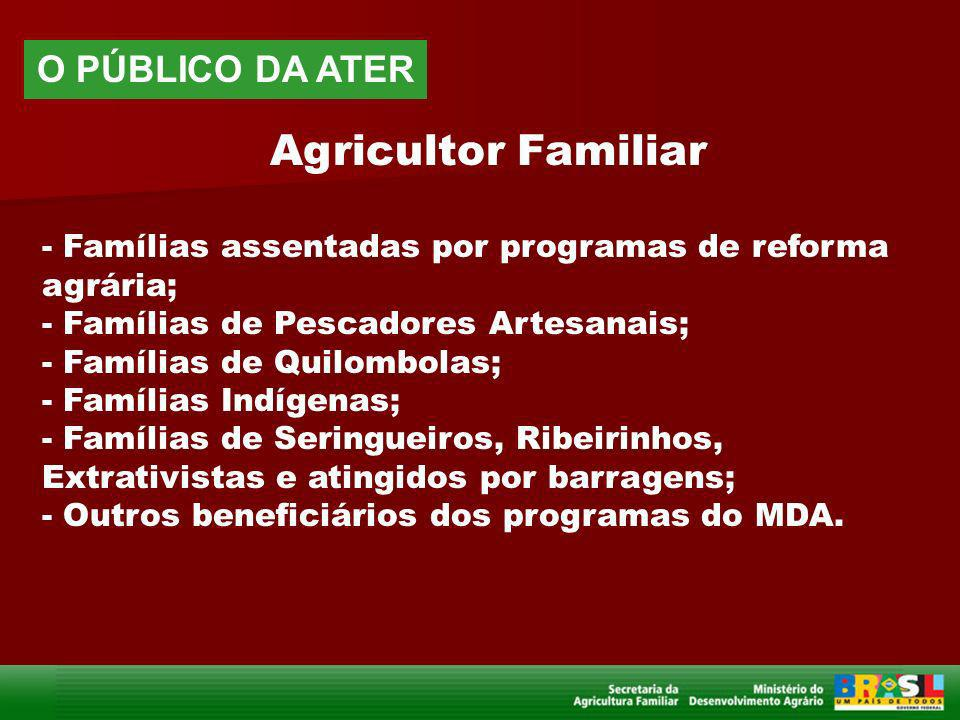 Agricultor Familiar O PÚBLICO DA ATER