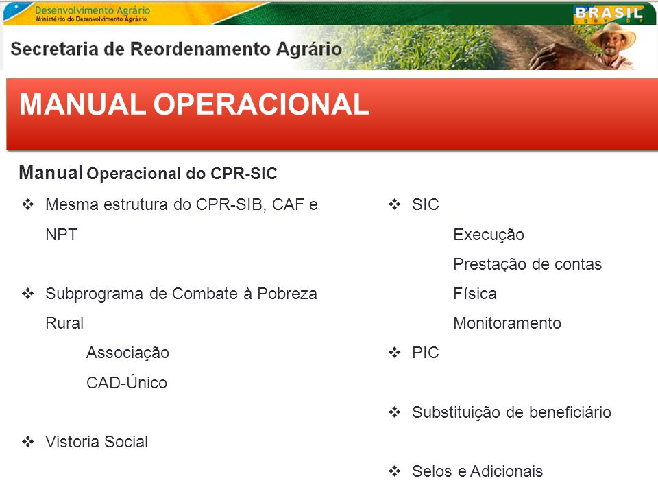 MANUAL OPERACIONAL Manual Operacional do CPR-SIC