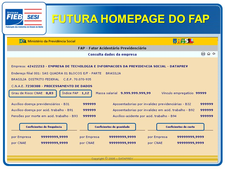 FUTURA HOMEPAGE DO FAP