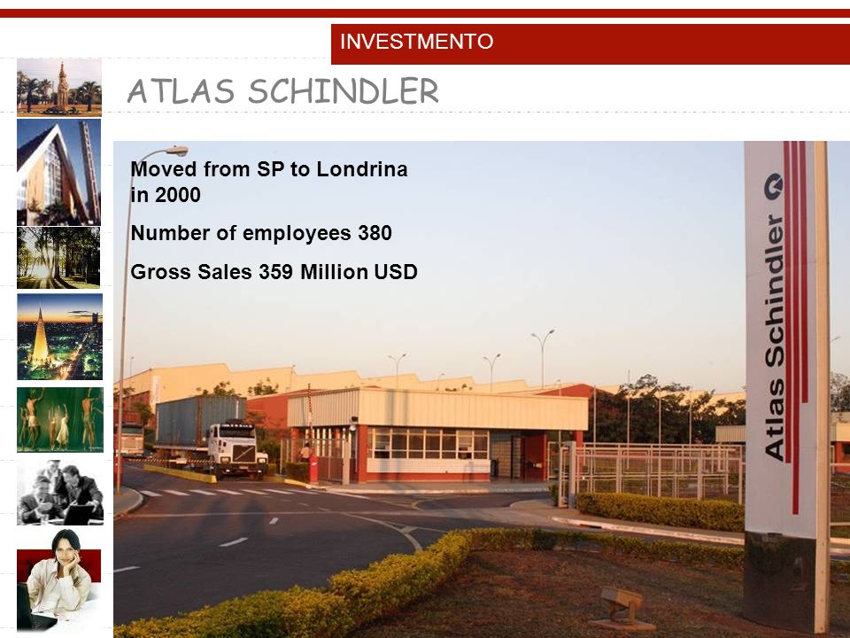 ATLAS SCHINDLER INVESTMENTO Moved from SP to Londrina in 2000