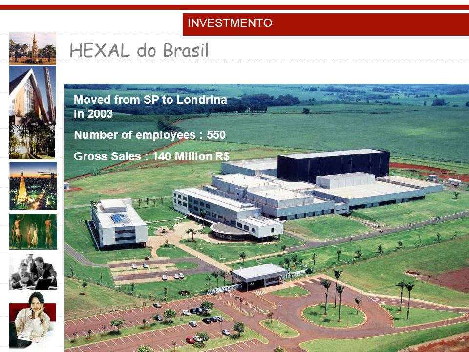 HEXAL do Brasil INVESTMENTO Moved from SP to Londrina in 2003