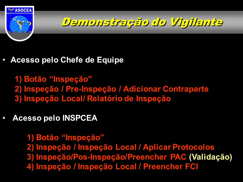 Demonstração do Vigilante