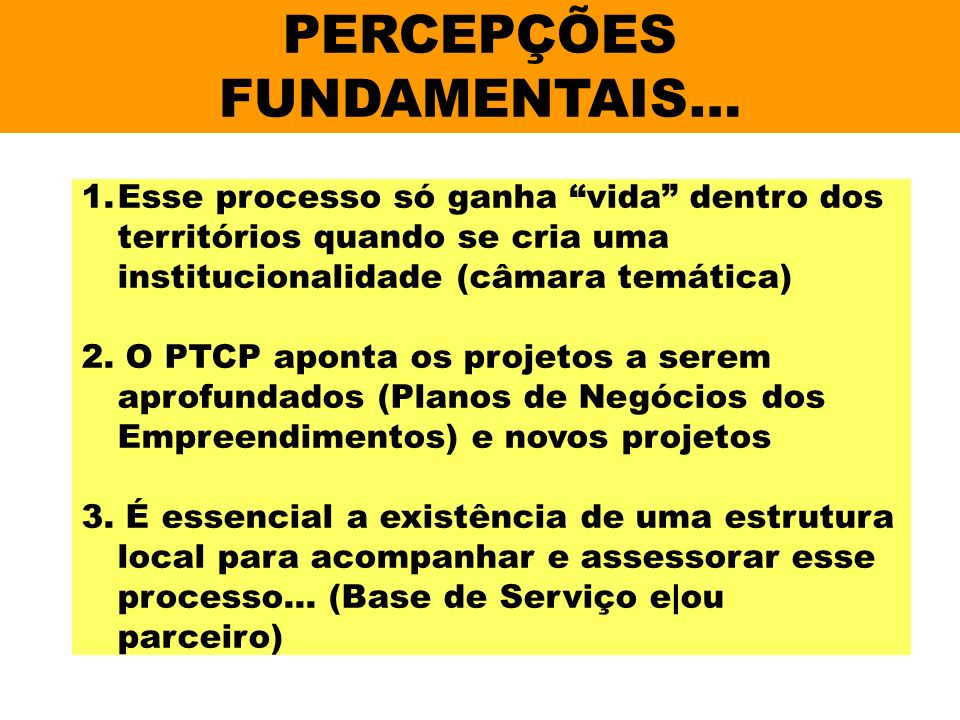 PERCEPÇÕES FUNDAMENTAIS…