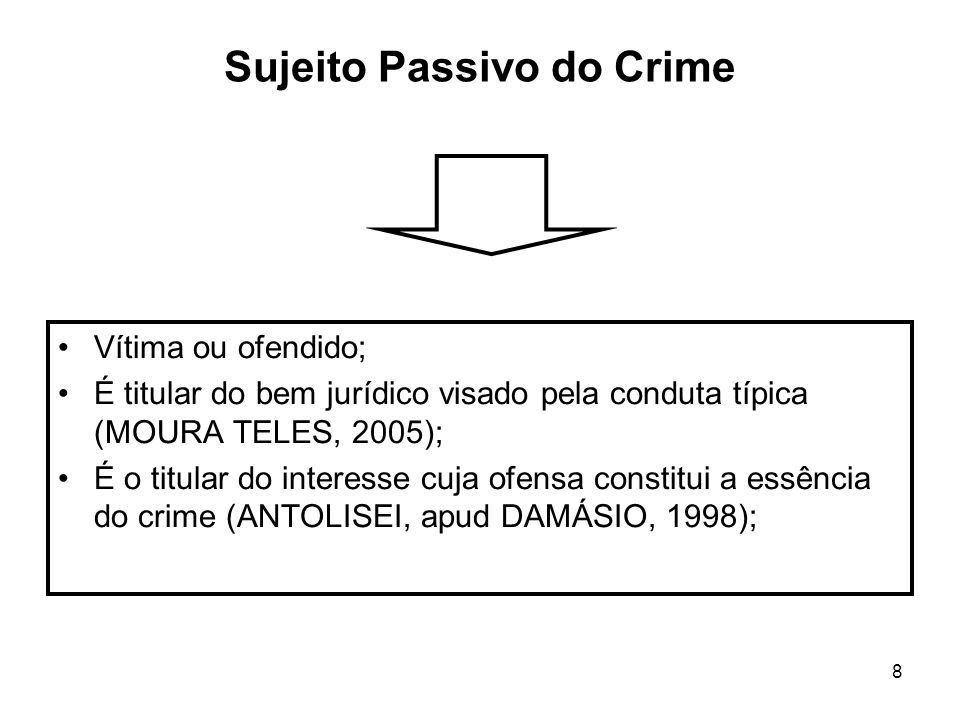Sujeito Passivo do Crime