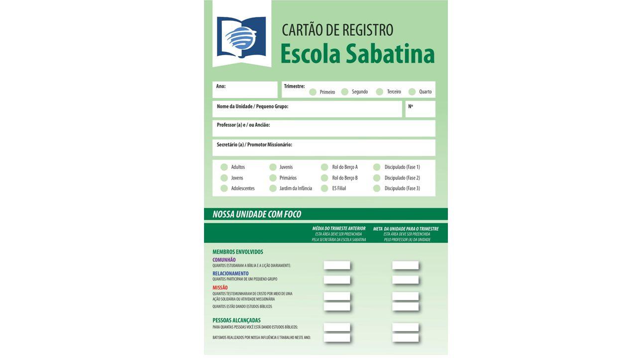 Manual De Uso Dos Cartoes Da Escola Sabatina Ppt Video Online