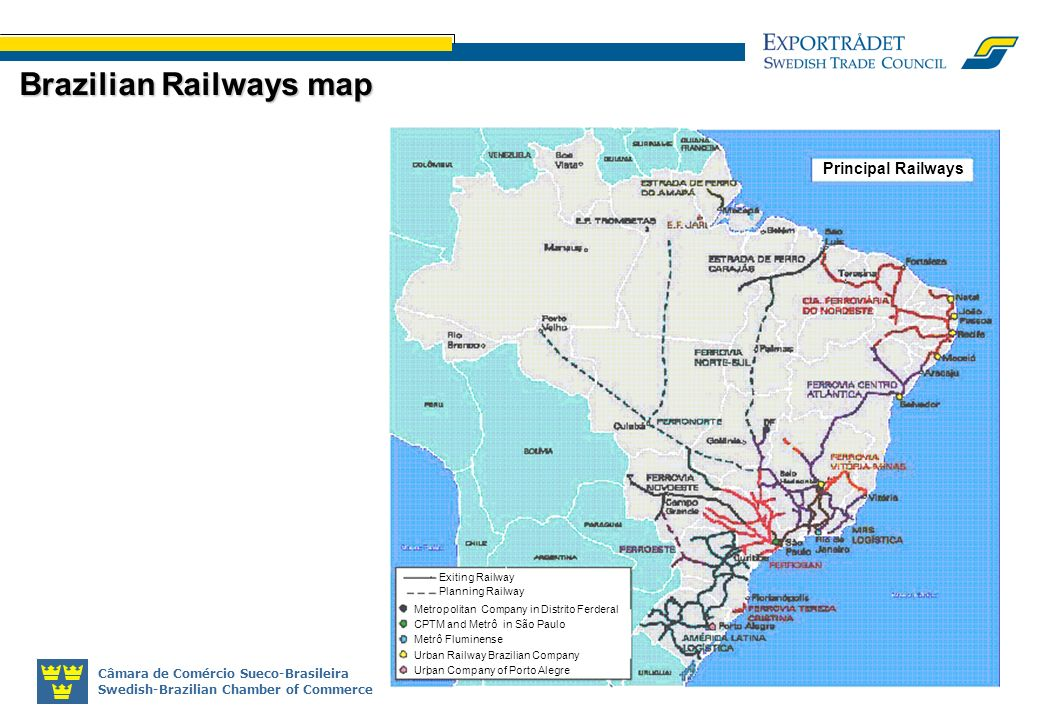 Brazilian Railways map