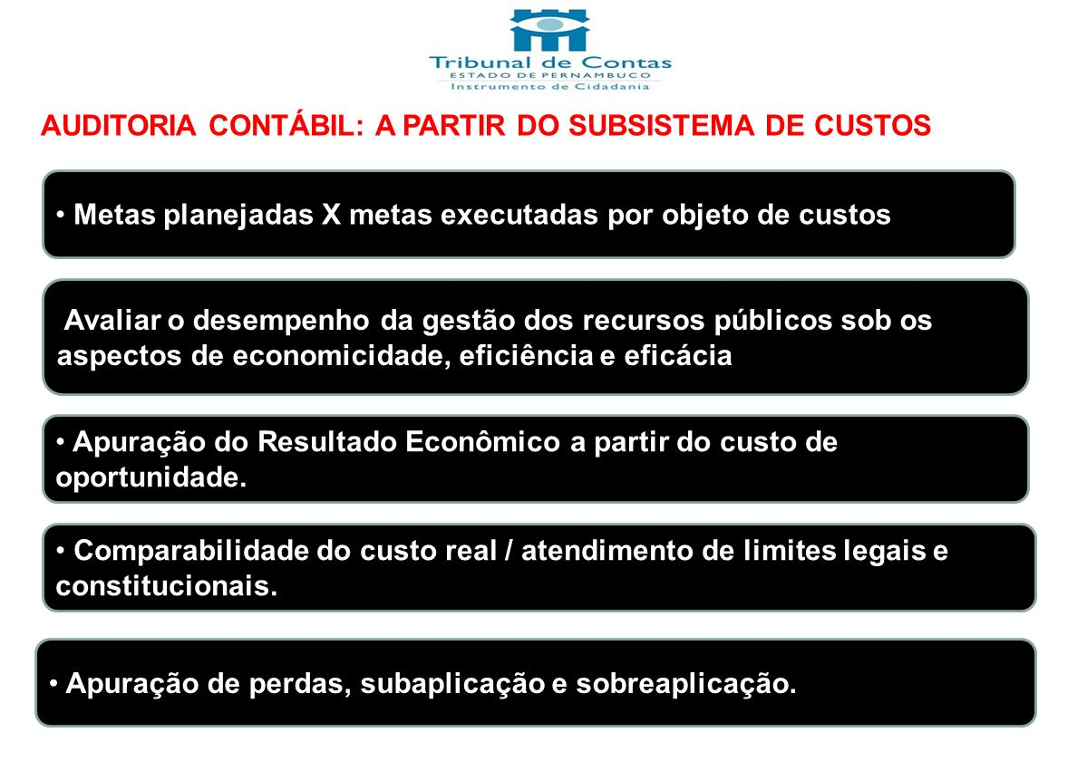 AUDITORIA CONTÁBIL: A PARTIR DO SUBSISTEMA DE CUSTOS