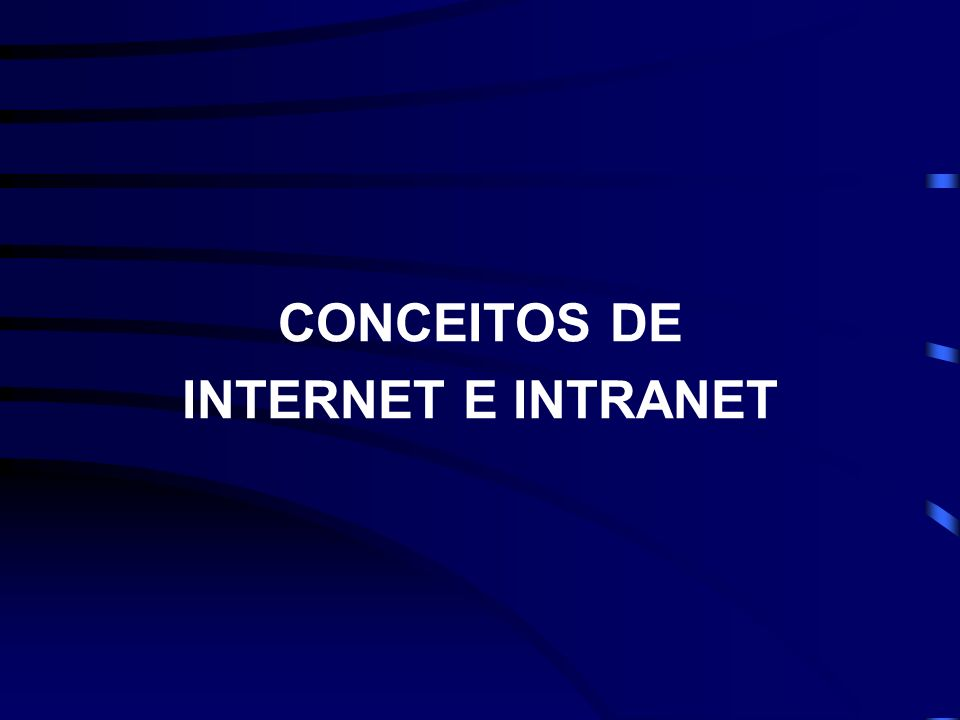 CONCEITOS DE INTERNET E INTRANET