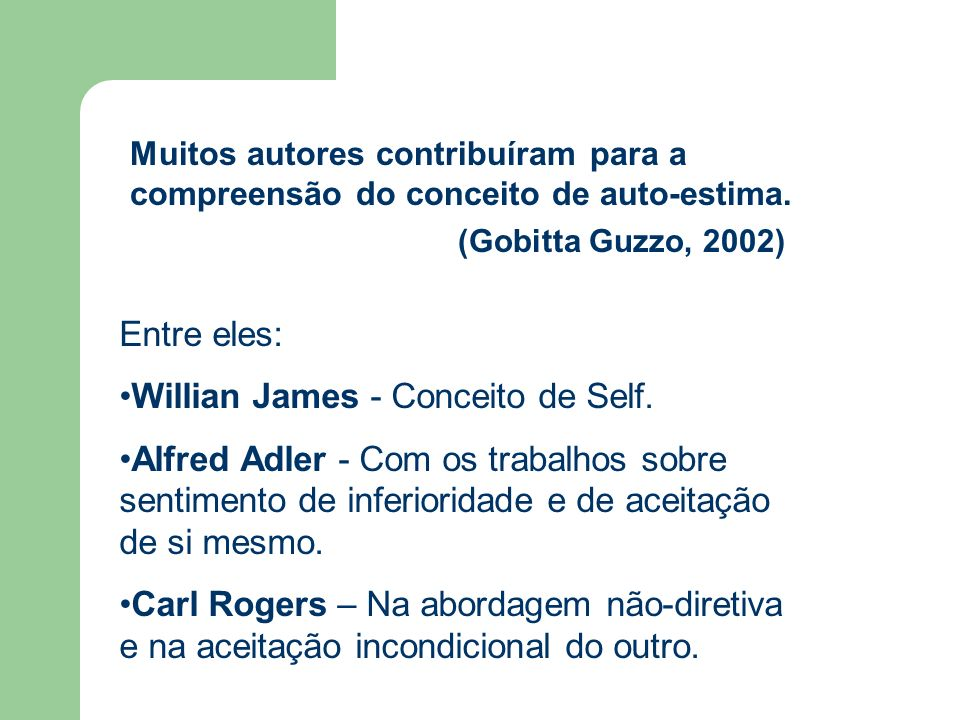 Willian James - Conceito de Self.