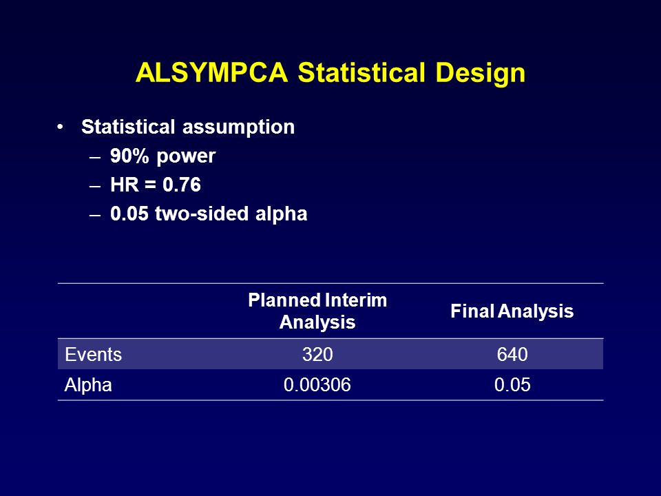 ALSYMPCA Statistical Design