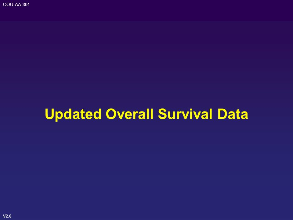 Updated Overall Survival Data
