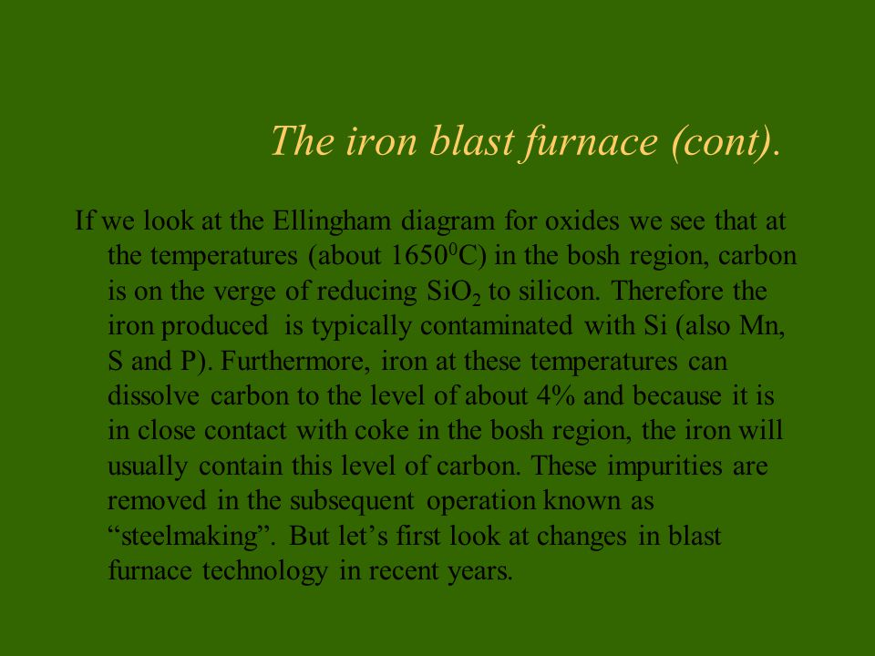 Produo de ferro gusa em alto forno ppt carregar the iron blast furnace cont ccuart Images