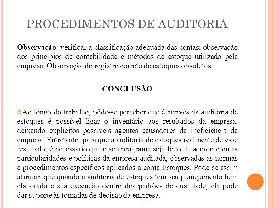 Auditoria De Estoques Objetivo Ppt Carregar