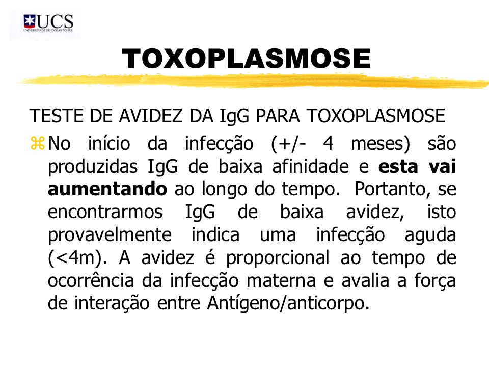 toxoplasmose anticorpos igg
