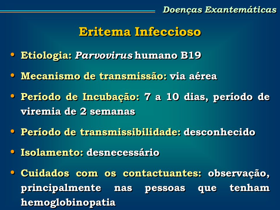 Doenças Exantemáticas - ppt carregar
