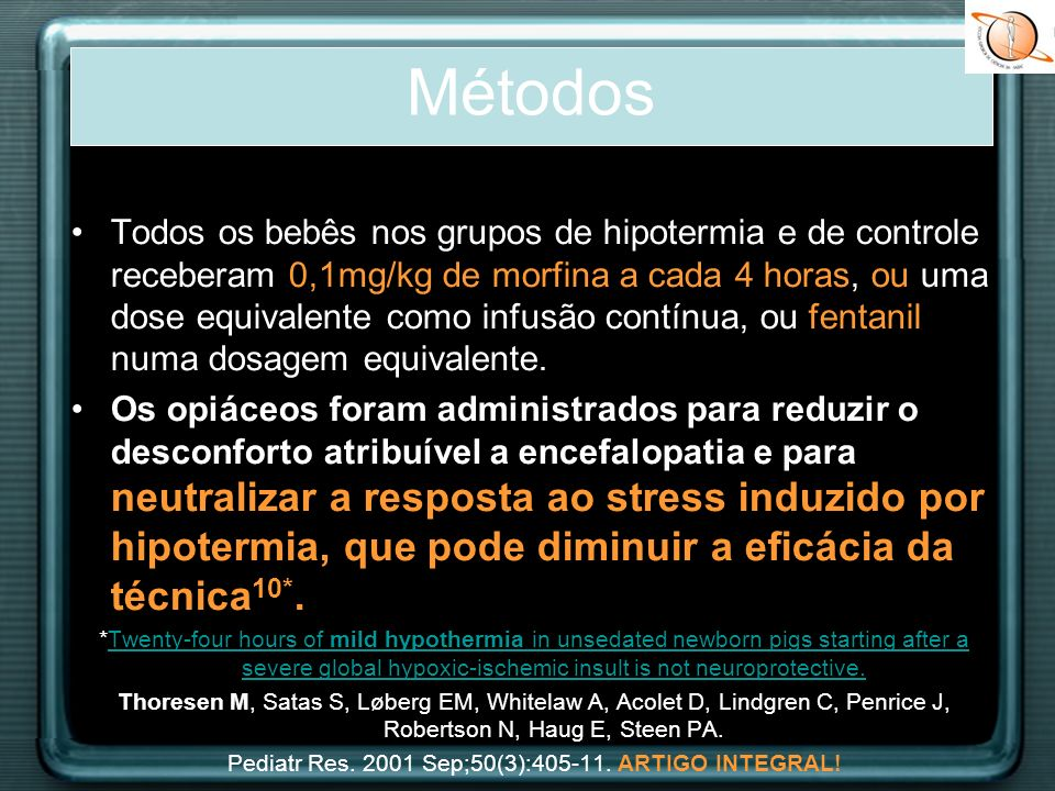 Pediatr Res Sep;50(3): ARTIGO INTEGRAL!