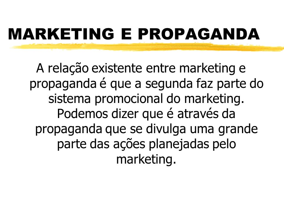 MARKETING E PROPAGANDA