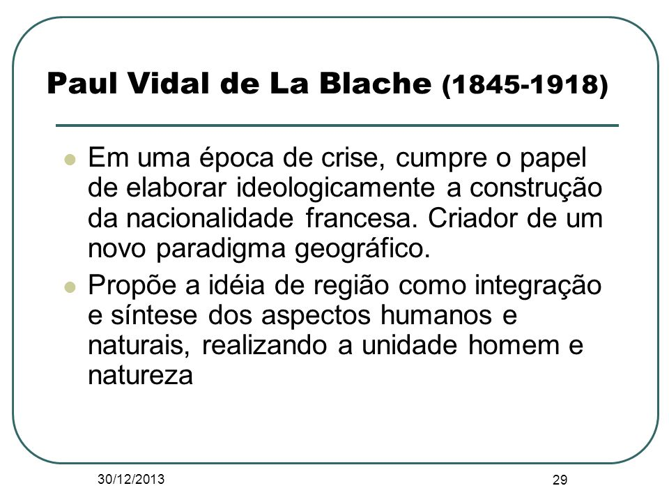 Paul Vidal de La Blache ( )