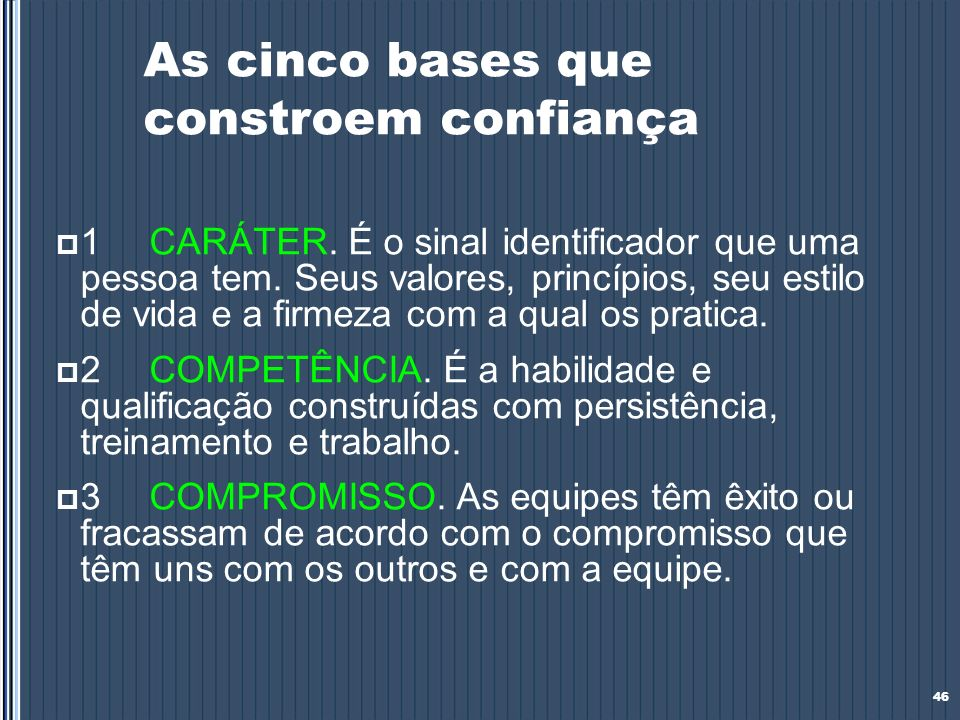 As cinco bases que constroem confiança