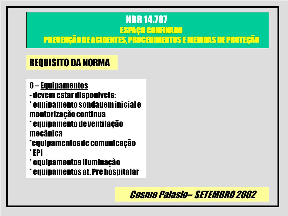 REQUISITO DA NORMA