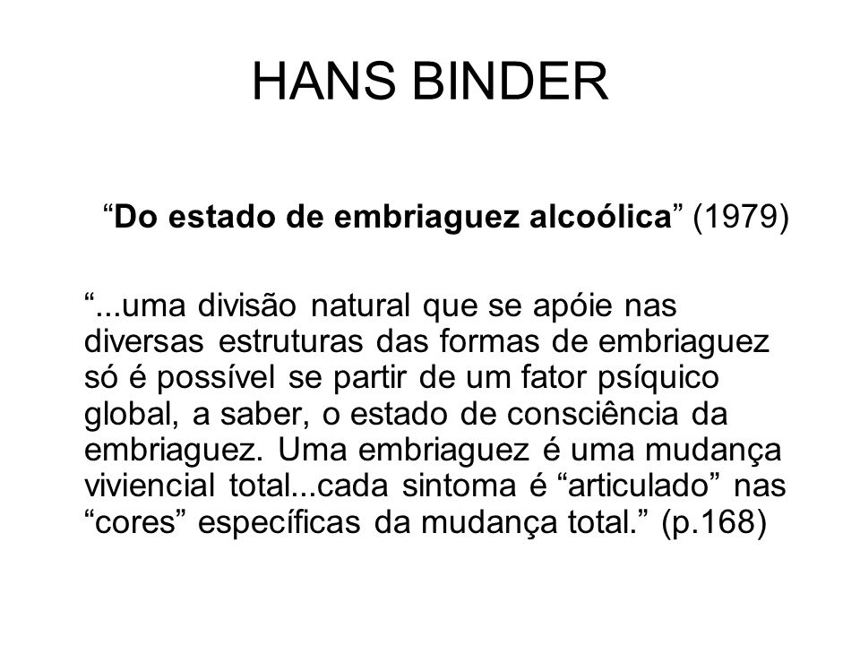 Do estado de embriaguez alcoólica (1979)