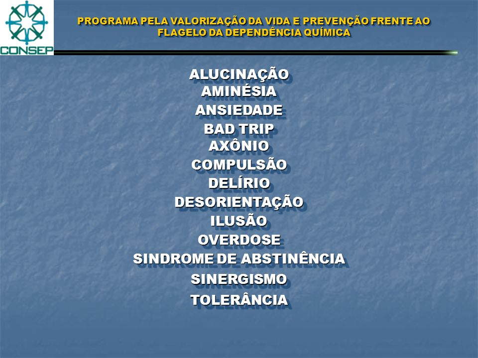 SINDROME DE ABSTINÊNCIA