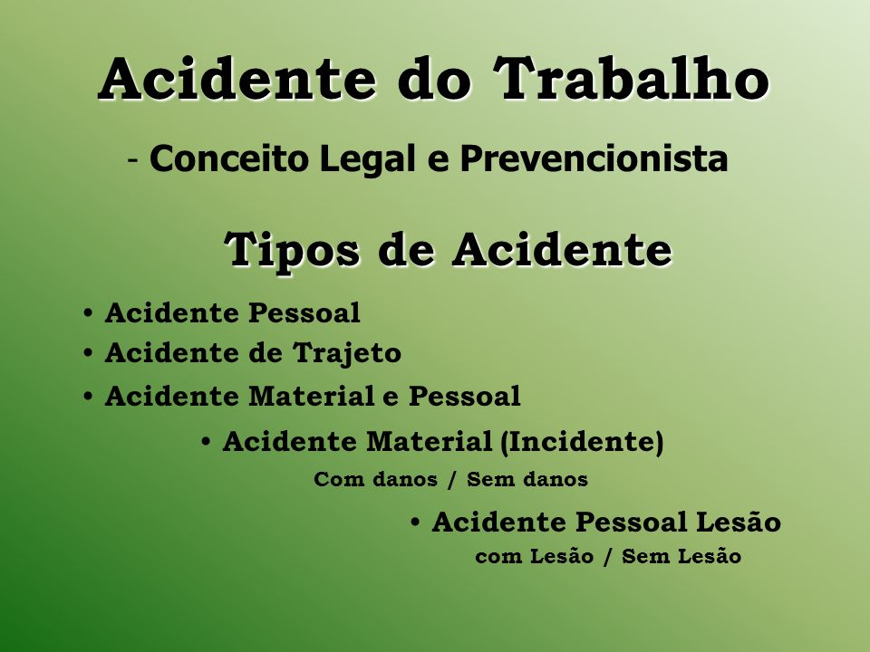 Acidente Material (Incidente)