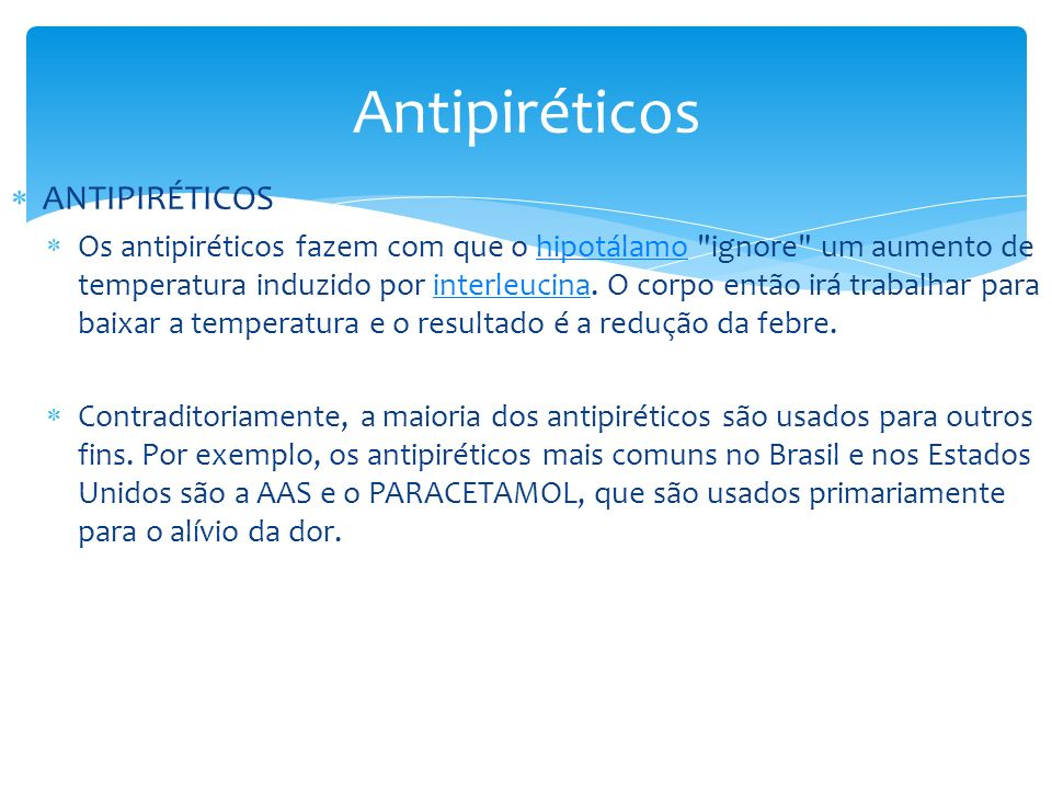 Antipiréticos ANTIPIRÉTICOS
