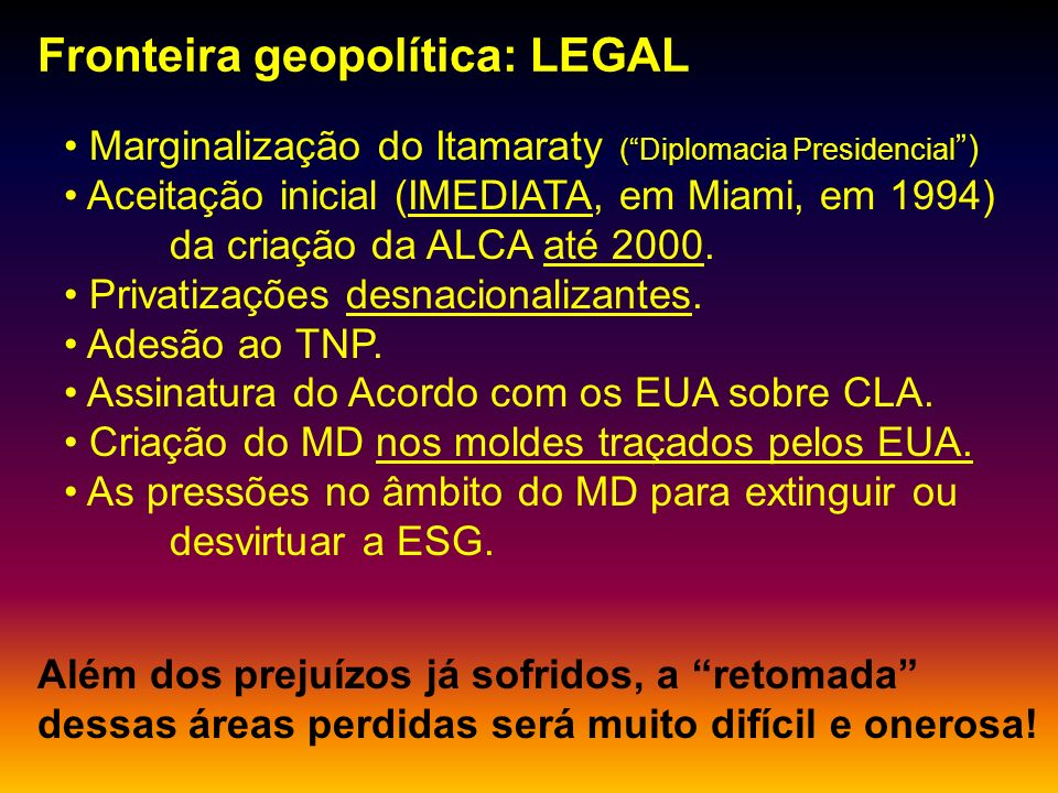 Fronteira geopolítica: LEGAL