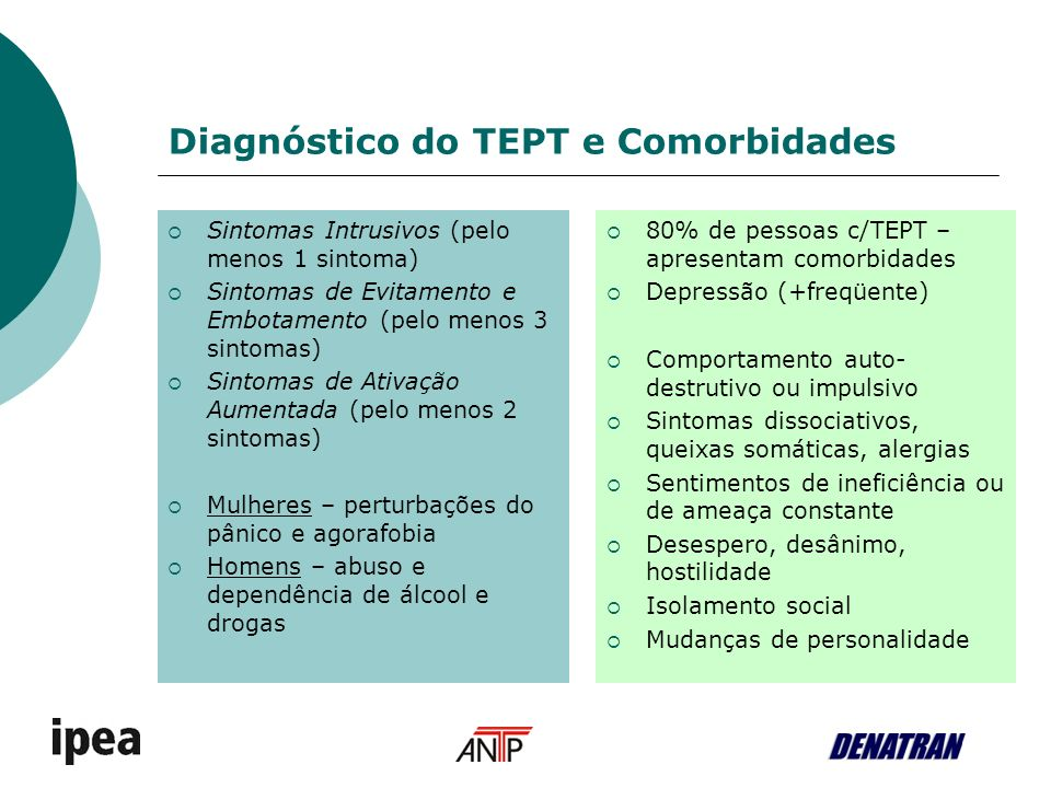 Diagnóstico do TEPT e Comorbidades