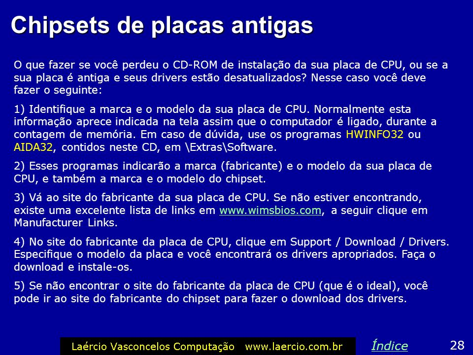 Chipsets de placas antigas