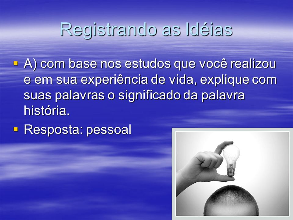 Registrando as Idéias