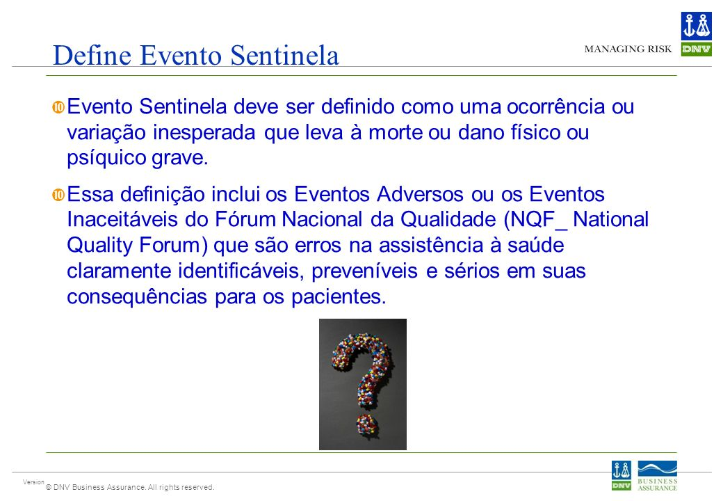 Define Evento Sentinela