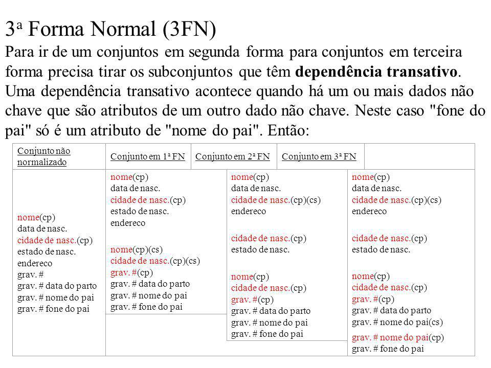 3a Forma Normal (3FN)