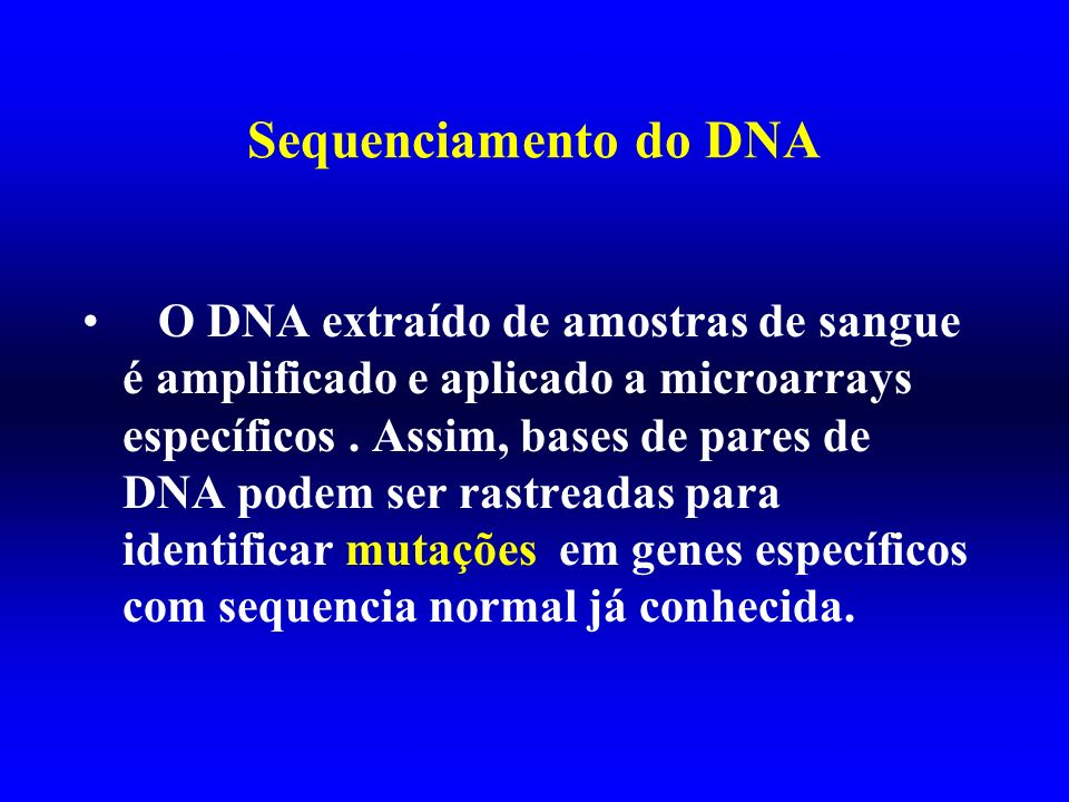 Sequenciamento do DNA
