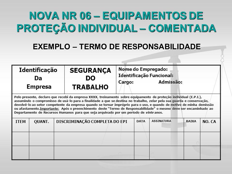30d105d8ab70d TEMA  Regulamentação dos EPIs no Brasil - Comentários acerca da NR-6 ...