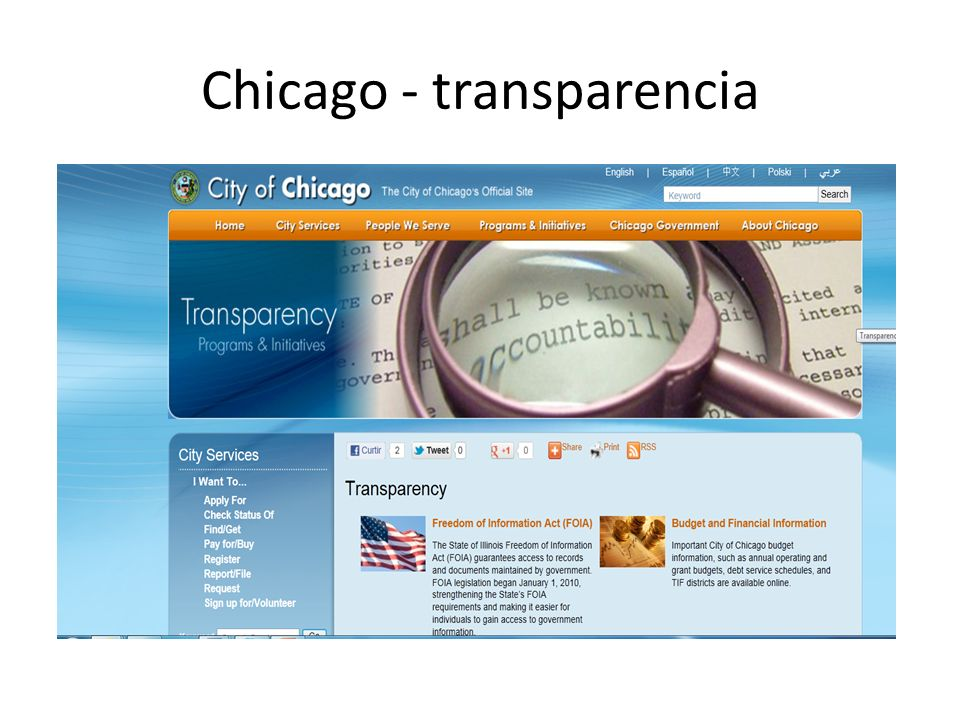 Chicago - transparencia