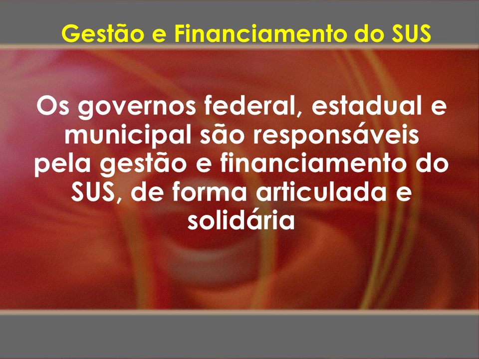 Gestão e Financiamento do SUS