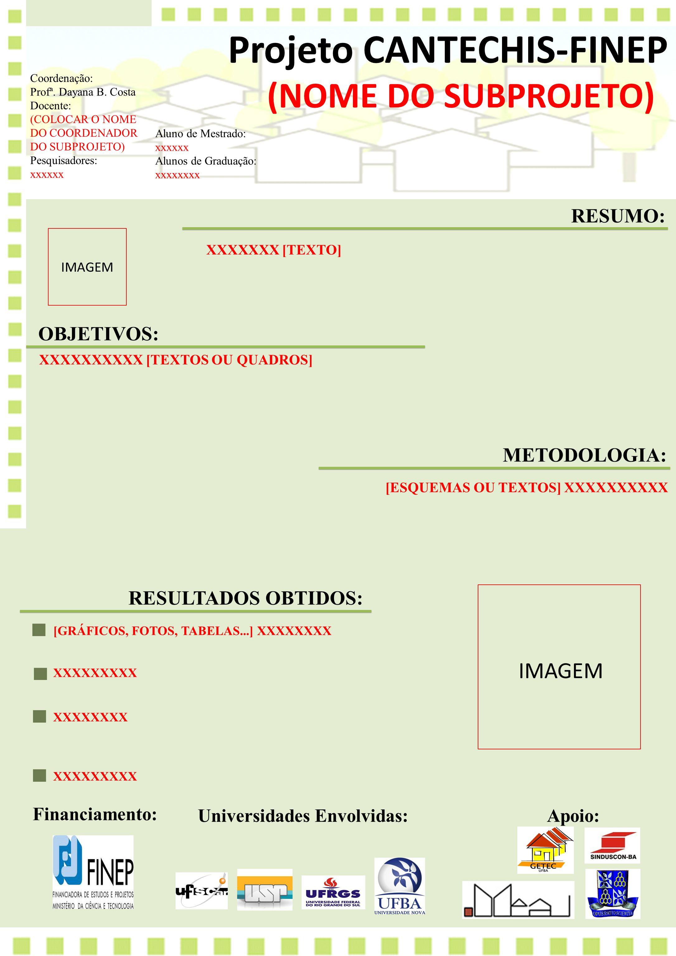 Projeto Cantechis Finep Ppt Carregar